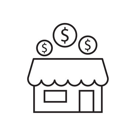 store and dollar vector icon desing illustration