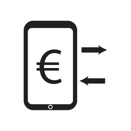euro exchange and telephone icon vector desing illustration