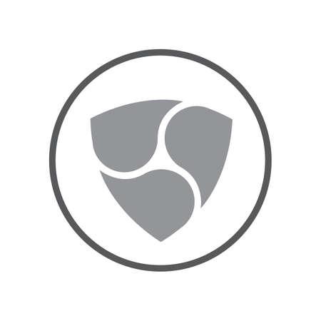 nem coin icon. criptocurrency symbol vector design