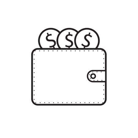 wallet and dollar money icon vector design