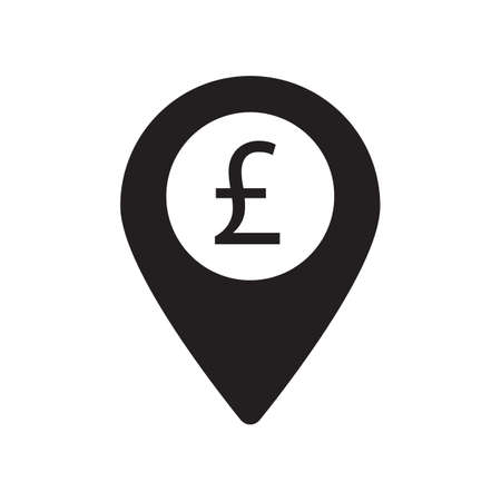 point of payment icon. pound sign design vector.