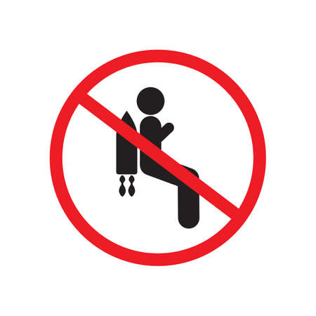 No jetpack zone sign vector design