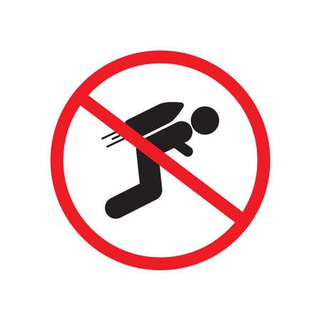 No jetpack zone sign vector design Stock Vector - 107536869