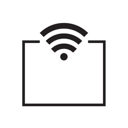 mobile access point icon. vector design Illustration