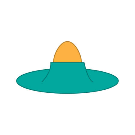 Colored egg icon on white background. Vector illustration design.