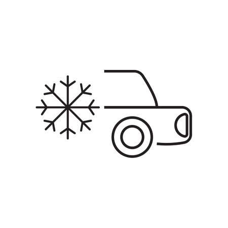 Snowflake and car icon vector design illustration. Illustration
