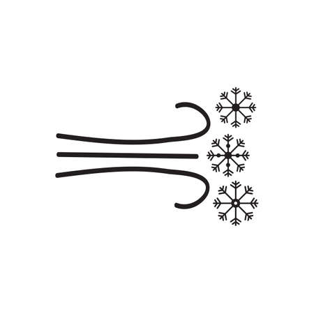 Snowflakes and cold breeze vector design illustration. Illustration