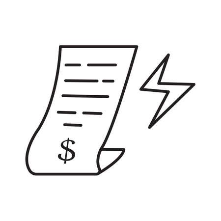 Electricity bill line icon vector design illustrator.