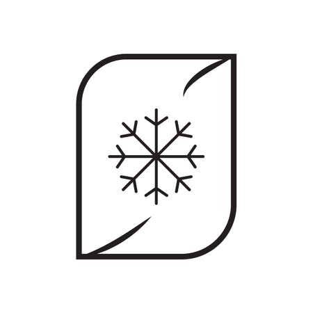 Frozen food line icon vector design illustration. Illustration