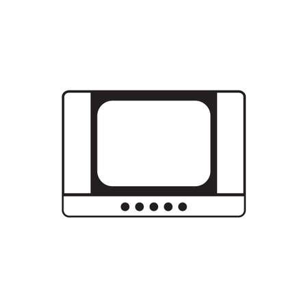 Retro tv black icon vector design illustration.