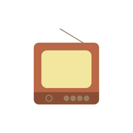 Retro tv flat icon vector design illustration. Illustration