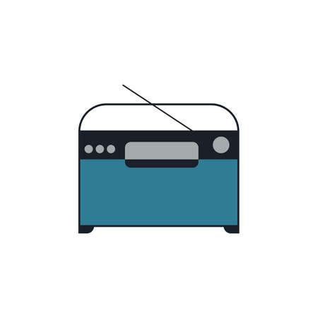 Radio fm flat icon vector design illustration. Illustration