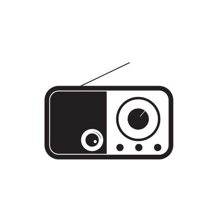 Radio fm black icon vector design illustration. Illustration