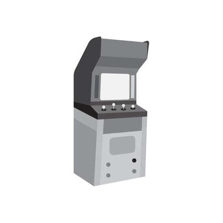 Arcade cabinet black icon vector design illustration. Illustration