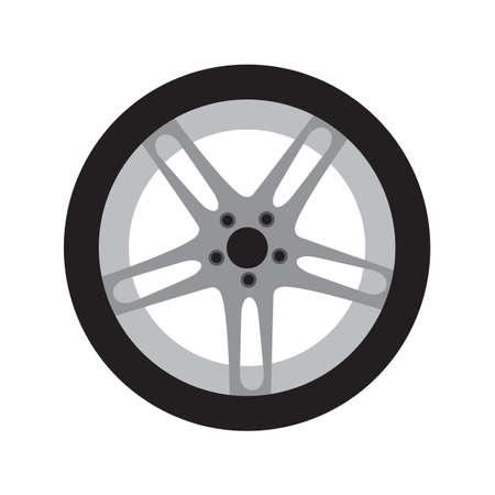Car tire black icon vector design illustration.