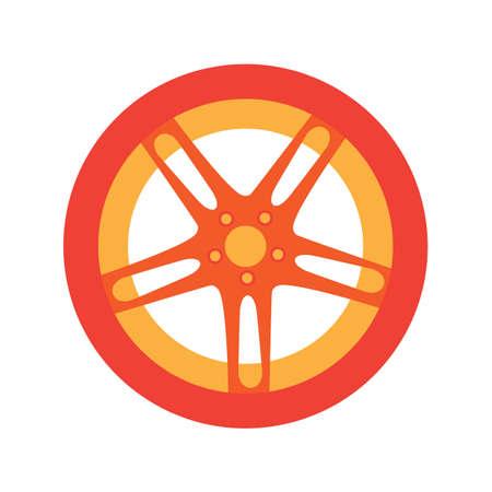 Car tire flat icon vector design illustration.