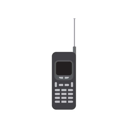 old mobile phone black icon vector design illustration.