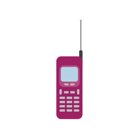 old mobile phone flat icon vector design illustration.