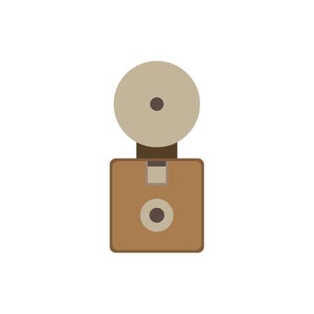Old camera flat icon vector design illustration.