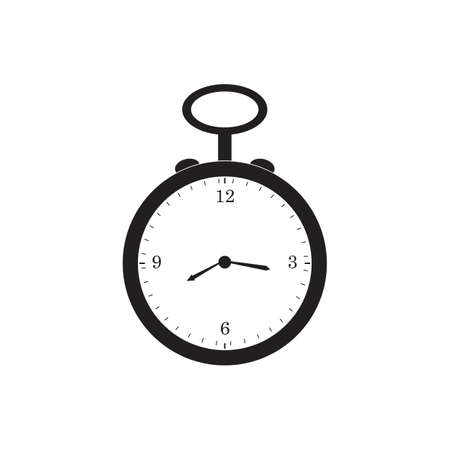 retro pocket watch black icon vector design illustration.