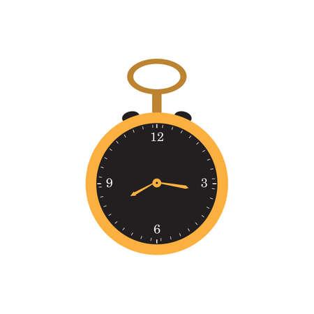 retro pocket watch flat icon vector design illustration.