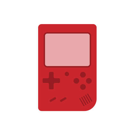 handheld game console flat icon vector design illustration.