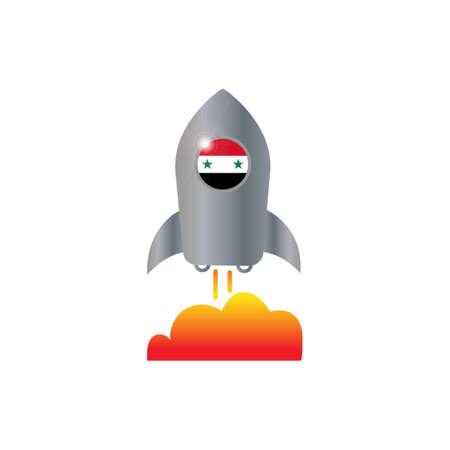 Syria and spaceship icon vector design illustration.