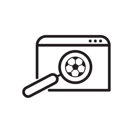 football search outline icon. vector design illustration.