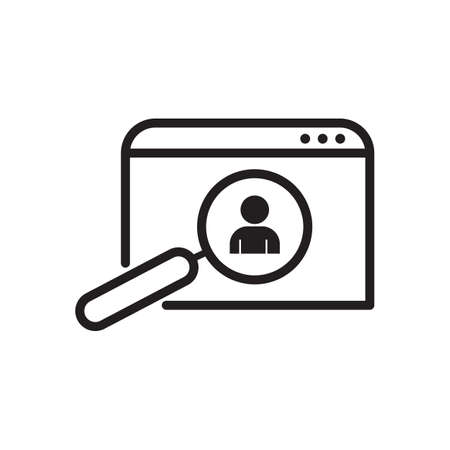 person search outline icon. vector design illustration.