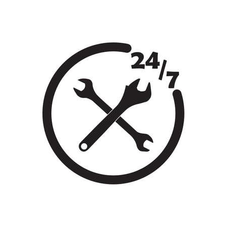 247 technische pictogram zwarte vectorillustratie ontwerp.