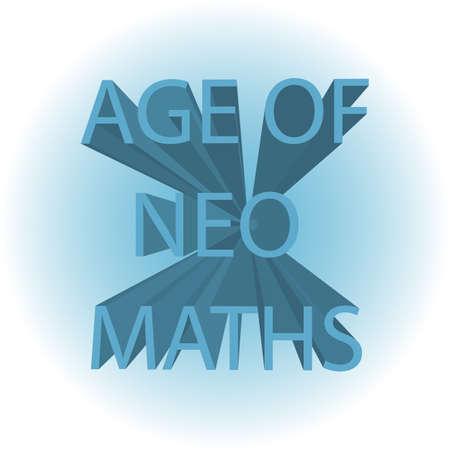 Age of Neo Maths. Background vector design illustration. Çizim