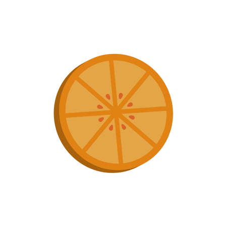 orange 3d icon. colored vector design illustration.