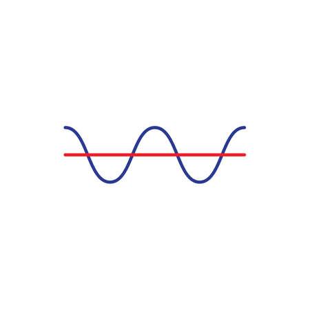 electrical threshold flat icon vector design illustration.