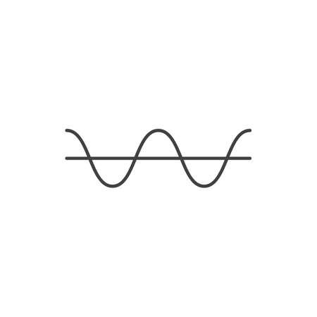 electrical threshold outline icon vector design illustration. Illustration