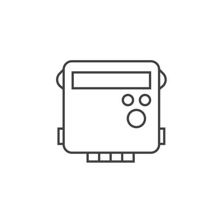 energy meter outline icon vector design illustration.