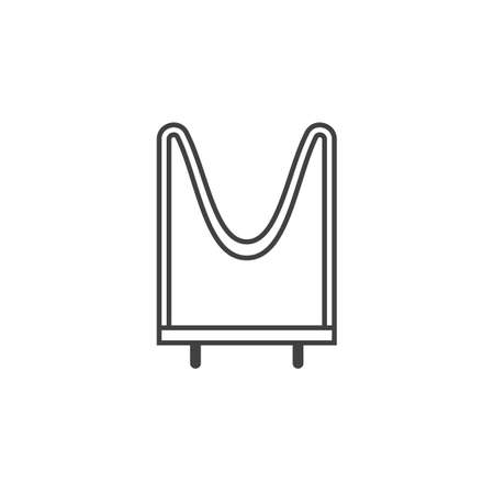 resistor outline flat icon vector design illustration.