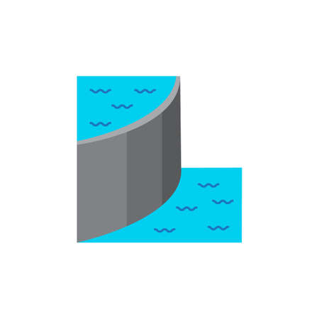 Dam colored flat icon vector design illustration.