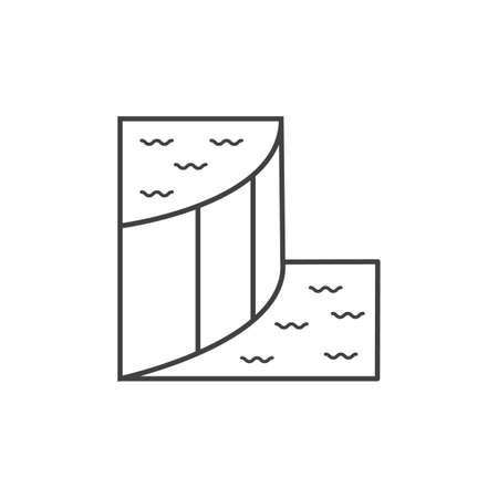 Dam outline flat icon vector design illustration. Illustration
