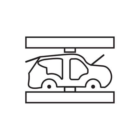 automotive car industry grey flat icon vector design.