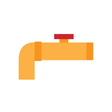 drain valve colored flat icon vector design illustration.
