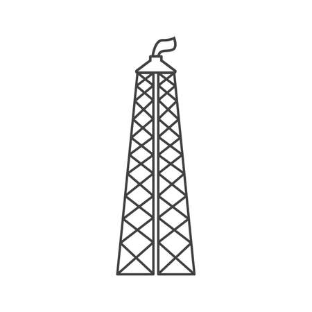 gas rig outline flat icon vector design illustration.