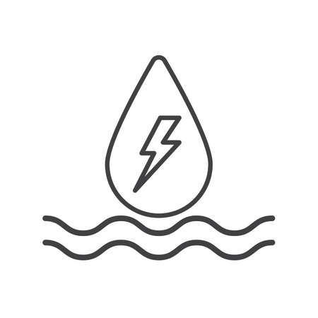 hydroelectric outline flat icon vector design illustration.