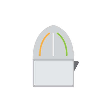 juicer colored flat icon vector design illustration.