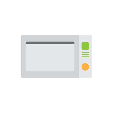 microwave oven colored icon vector design illustration.