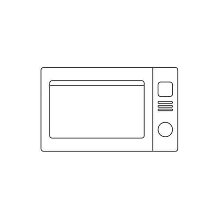 microwave oven outline icon vector design illustration.