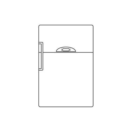 refrigerator outline flat icon vector design illustration.