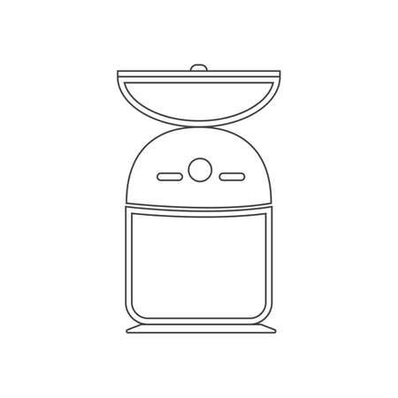 salt mill outline flat icon vector design illustration.