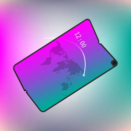 Smartphone mit faltbarem Bildschirm. Neues Konzept. Vektor-Design-Illustration Vektorgrafik