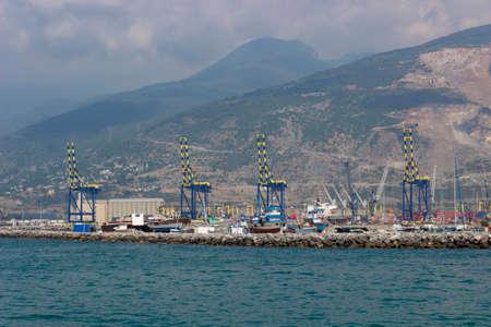 Container Harbor in Iskenderun, Hatay - Turkey.