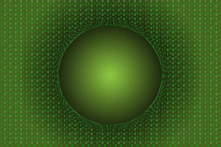 Digital background green matrix with empty text area.